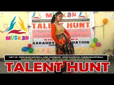 "Dance Performance on ""Mohe Rang Do Lal "" on occasion of Talent Hunt organized by MUSKAN"