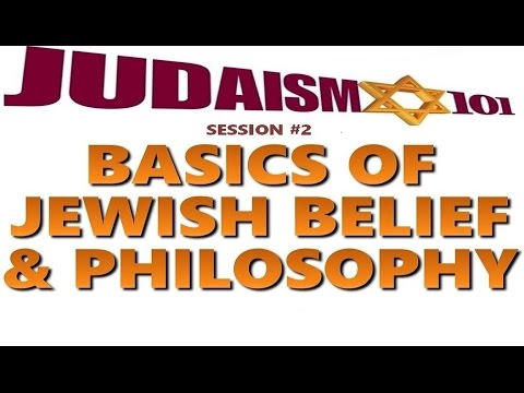 JEWISH BELIEF & PHILOSOPHY - Rabbi Michael Skobac (Jews 4 Ju
