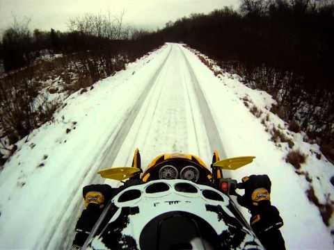 Ski-doo 600 MXZ-X On Browntrack In St.Regis Falls