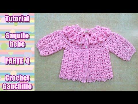 Diy como tejer saquito sueter chaqueta chambrita para bebe en crochet ganchillo 4 4 youtube - Tejer chaqueta bebe 6 meses ...