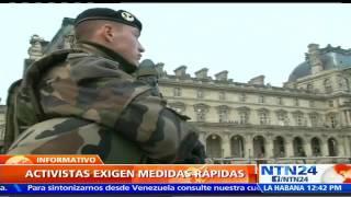 Máxima seguridad: París se blinda con 120mil uniformados para recibir la Cumbre del Clima