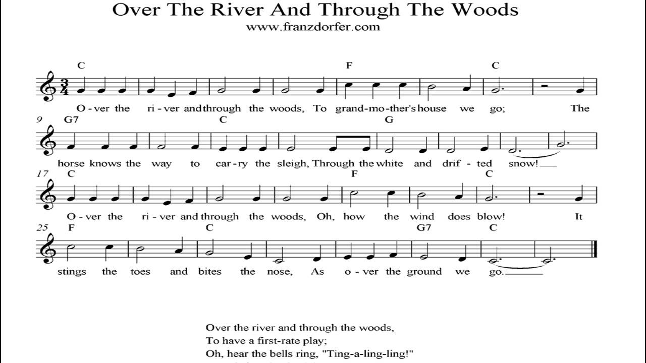 Over The River And Through The Woods - instrumental - YouTube
