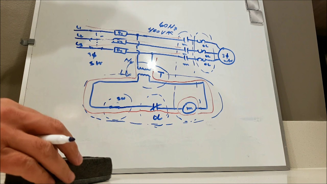 small resolution of start stop motor control how to control a 3 phase motor 2 wire control