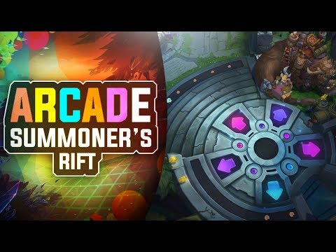 ARCADE SUMMONER\'S RIFT MAP SKIN TOUR - League of Legends - YouTube