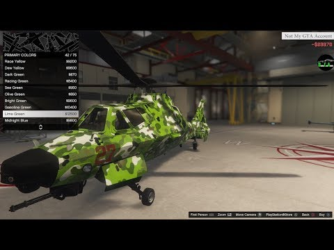 GTA 5 - DLC Aircraft Customization (Akula) Stealth Helicopter