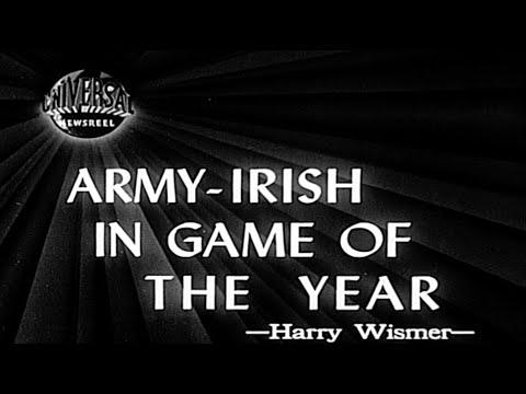 Original 1946 Army vs Notre Dame Newsreel