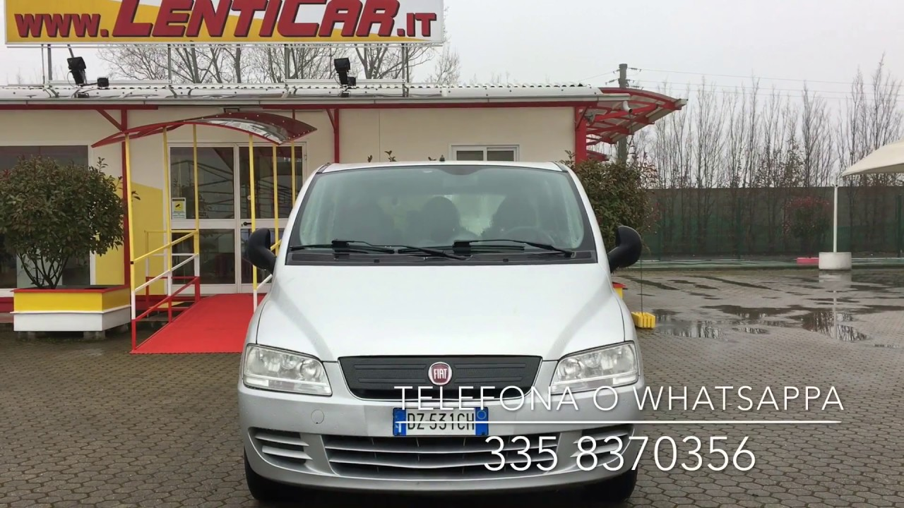 1bc2742c27 FIAT Multipla 1.9 MJT Active 6 posti con gancio traino - YouTube