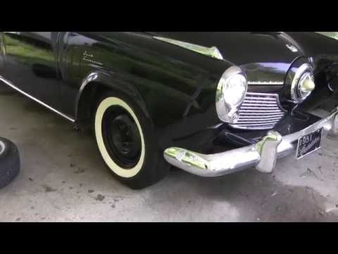 1951 Studebaker Commander Land Cruiser: Changing Out A Flat Tire.