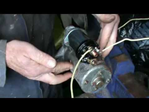 Testing and replacing a pre engaged starter motor solenoid for Ford motor company pre employment test