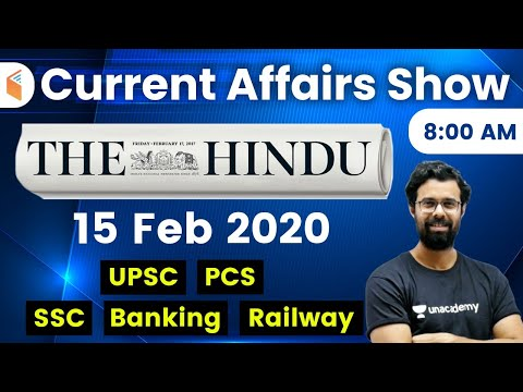 8:00 AM - Daily Current Affairs 2020 By Bhunesh Sir   15 February 2020   Wifistudy