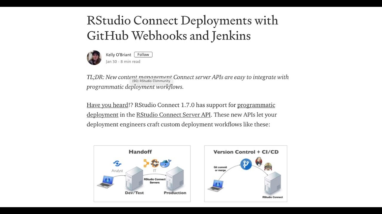 RStudio Connect Deployments with GitHub Webhooks and Jenkins
