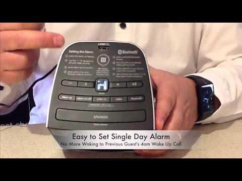 Space Saving Bluetooth Clock Radio - with USB - YouTube