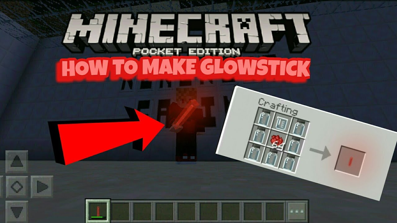 How to make GLOWSTICK in Minecraft PE (Chemistry Update)