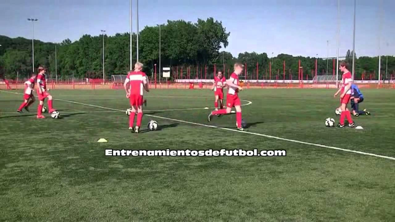 Entrenamiento de fútbol para niños de 12 años parte 1 - YouTube a97a10351cc46