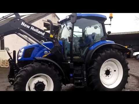 New Holland T6.140 Electrocommand c/w NH 740TL loader.