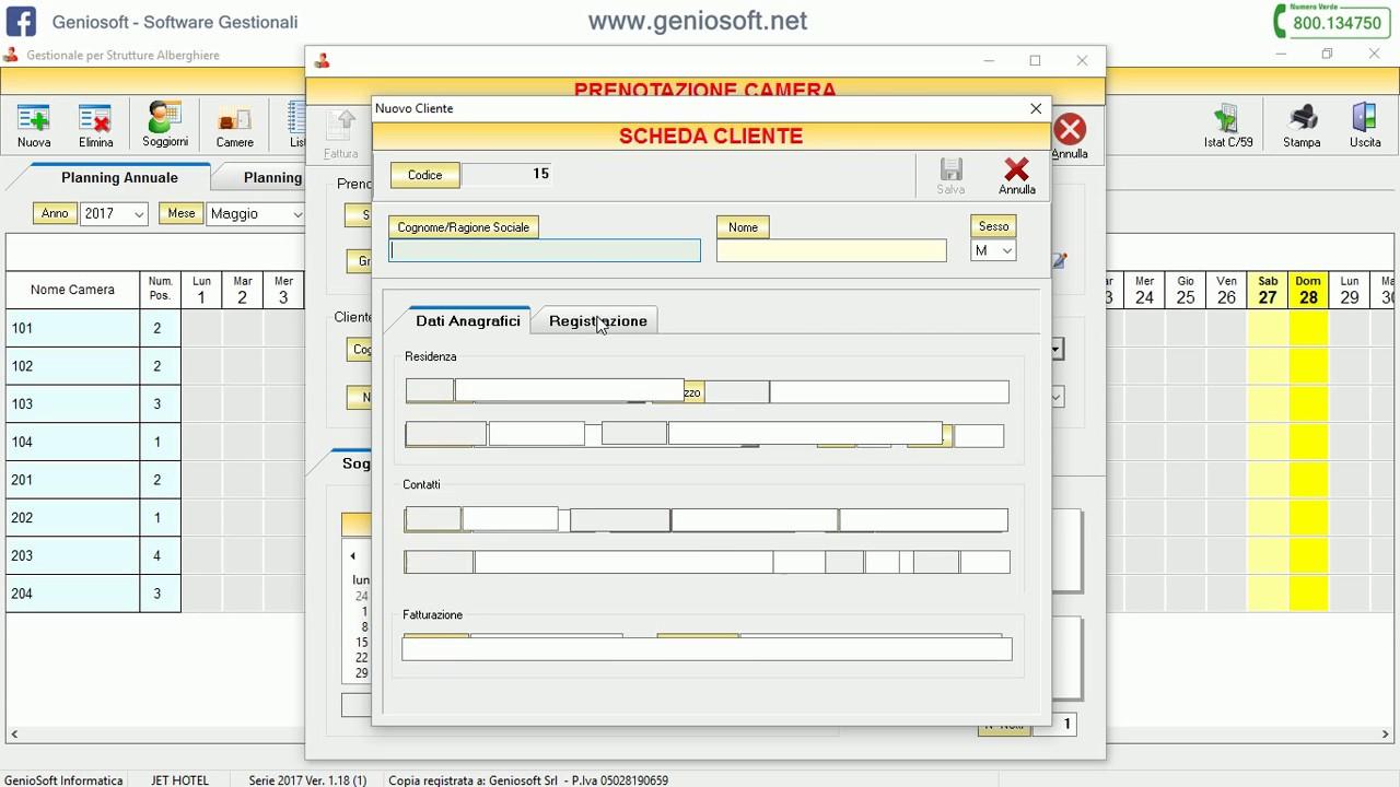 Calendario Prenotazioni Hotel Excel.Jethotel Come Registrare Una Prenotazione
