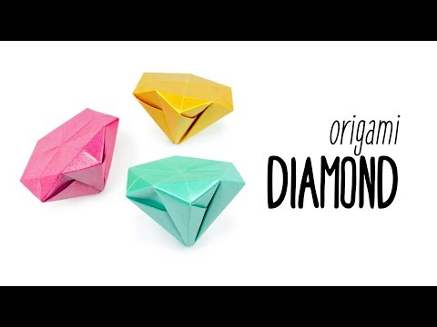 Origami Diamond Tutorial ♥︎ No Glue ♥︎ Paper Kawaii
