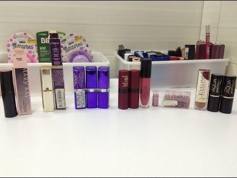Моя коллекция помад- Mary Kay, Rimmel, Loreal, Eveline,  Golden Rose- Lipstick Collection  (part 6)