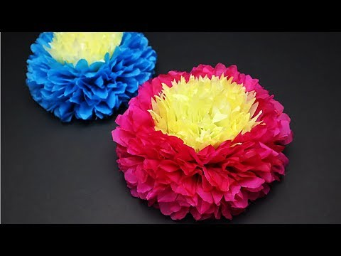 Tissue Paper Flower For Birthday / Wedding / Baby Shower Party Decorations