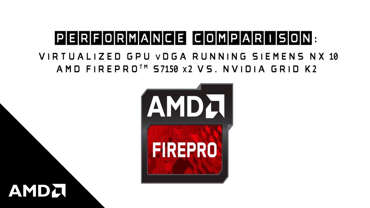 AMD FirePro™ S7150 x2: Virtualized Siemens NX 10 Performance Benchmarked