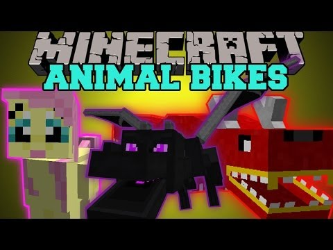 Thumbnail: Minecraft: ANIMAL BIKES (RIDE THE ENDER DRAGON, CREEPERS, GHASTS, AND MORE!) Mod Showcase