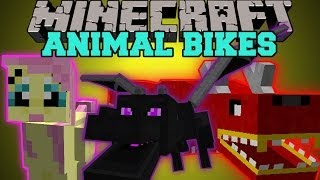 Minecraft: ANIMAL BIKES (RIDE THE ENDER DRAGON, CREEPERS, GHASTS, AND MORE!) Mod Showcase
