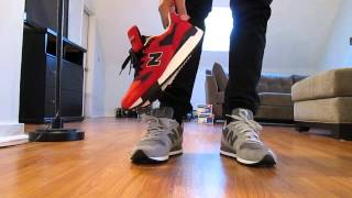 "New Balance 998 ""American Rebel"" Red Suede ON FEET Review & Grey/White 996"