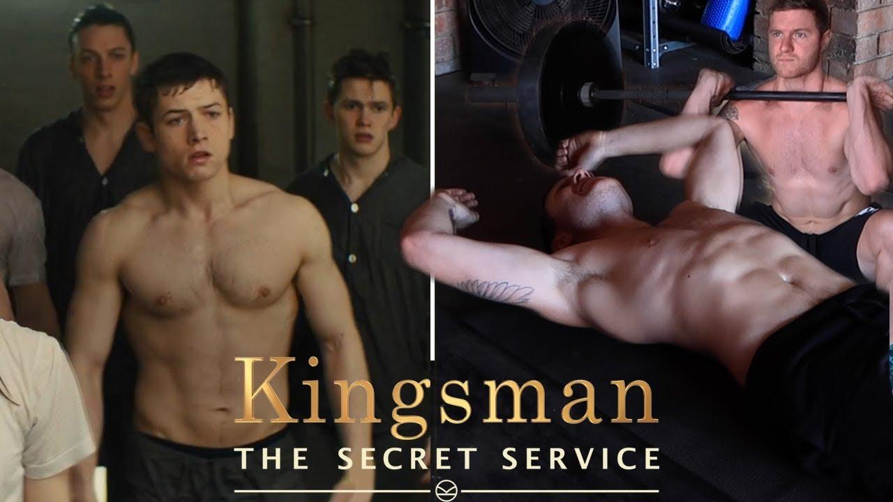 taron egerton kingsman workout