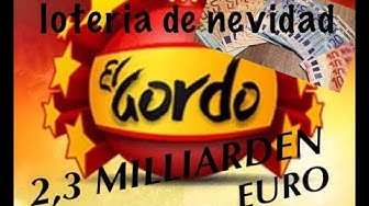 El Gordo MEGA LOTTERIE 2,3 Milliarden, JETZT auch in Deutschland, loteria de navidad
