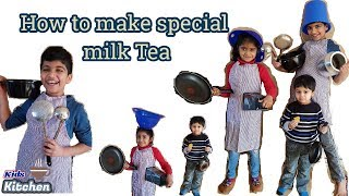 How to make Milk Tea|Tasty Milk Tea|Kids great Milk Tea|Kids Kitchen