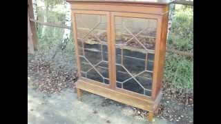 Vintage Mahogany Astral Glazed Display Cupboard Bookcase