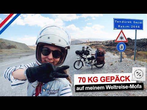 2600 Höhenmeter mit 70 KG Gepäck auf dem Mofa | Mein grösstes Abenteuer