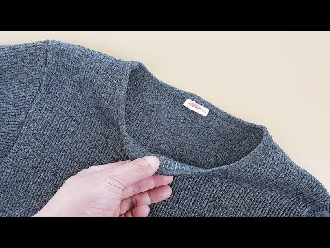 衣服领口大改小原来这么简单,不拆不剪没痕迹,男人看完都能学会