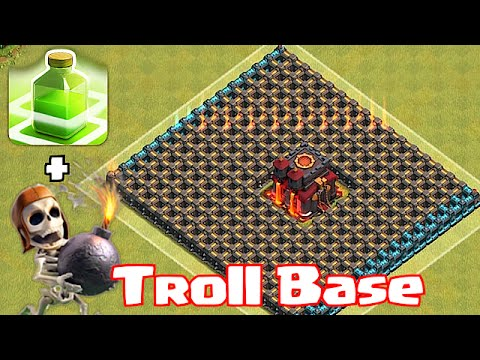 "Clash Of Clans ""CHAMP TROLL BASE"" (Wallbreakers and jump spells) from YouTube · Duration:  6 minutes 14 seconds"
