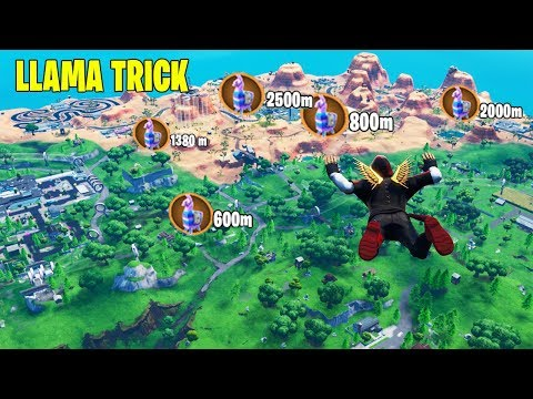 How To Find *LLAMAS* Before LANDING In Fortnite (LLAMA TRICK)