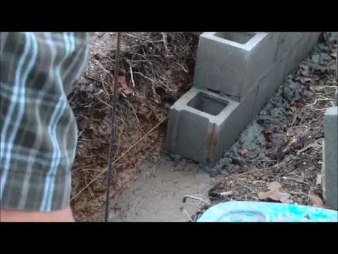 Homesteading: Laying Concrete Blocks