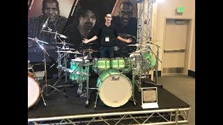 SO MANY COOL DRUMS! NAMM 2018 - Pearl Booth Tour!