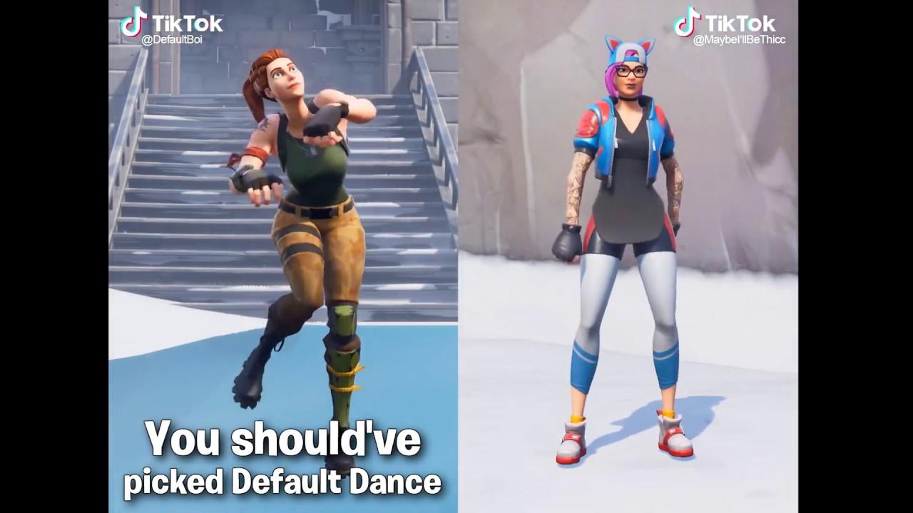 Tik Tok Fortnite Dance Meme   Fortnite Hacker Vs Noob