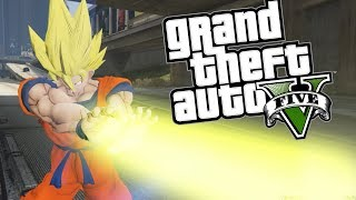 GTA 5 Mods - DRAGON BALL Z MOD w/ POWERS (GTA 5 PC Mods Gameplay)