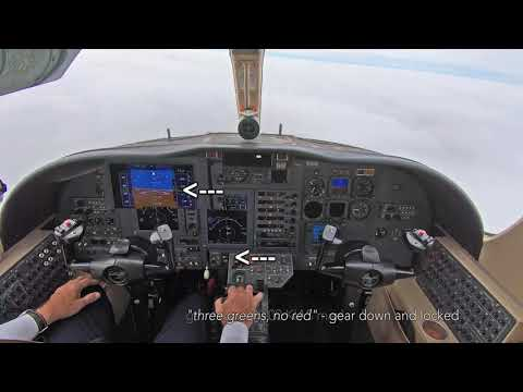 ILS approach in a Citation Jet - ATC recorded and procedures explained