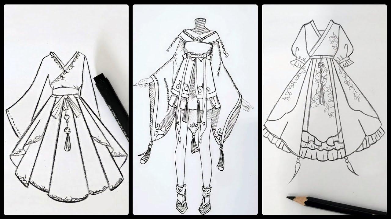 Cách vẽ váy áo trang phục xưa đơn giản | Draw so easy Anime | Tóm tắt các tài liệu liên quan cách vẽ trang phục mới cập nhật