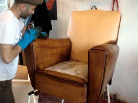 La fabrication 100 fran aise du fauteuil club enfant doovi - Restaurer un canape ...