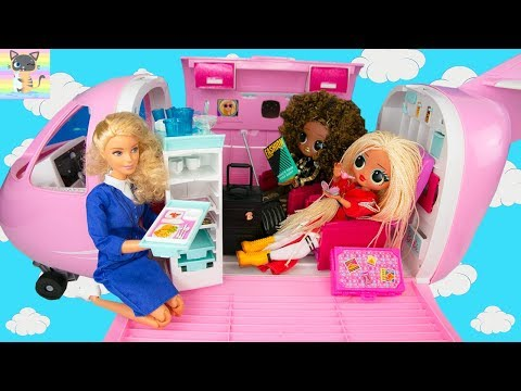 OMG LOL SURPRISE BIG SISTER Vacation Travel Adventure on Barbie's Plane - Vacation Movie!