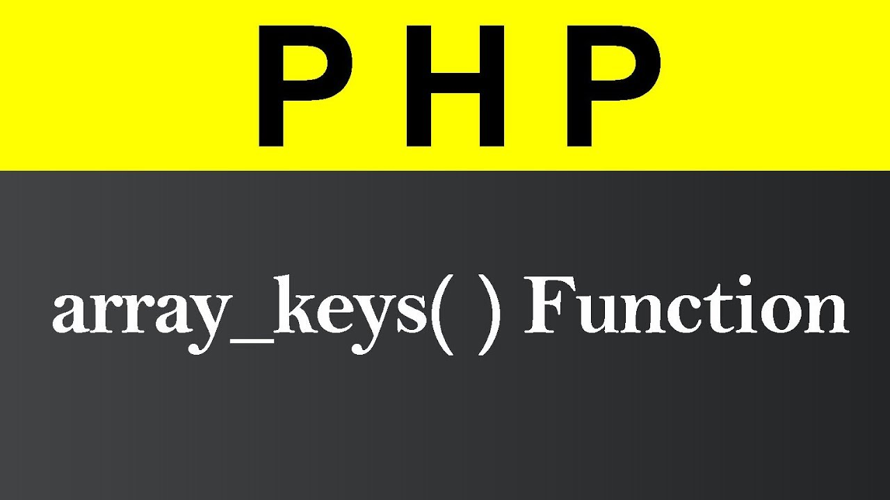 array_keys Function in PHP (Hindi)