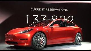 Tesla Model 3 Лучший автомобиль в мире!!!(Очереди за этой машиной были такими же длинными как за Iphone. 253000 предзаказов за 36 часов. Новая потрясающая..., 2016-04-05T17:35:33.000Z)