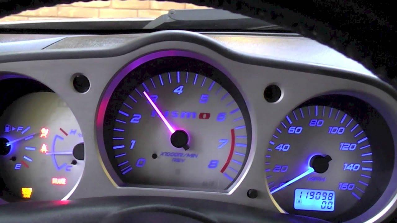 Nissan Juke Lights 350z Custom Gauge Clusters with Blue LEDs for Garreth #5 ...