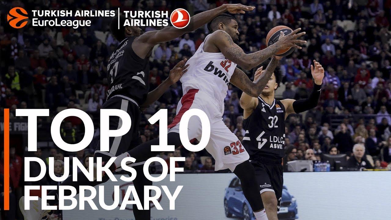 THY EuroLeague'de şubat ayının en iyi 10 smacı! Videosu