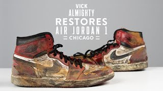 Vick Almighty Restores NASTY Air Jordan 1 Chicagos with Reshoevn8r