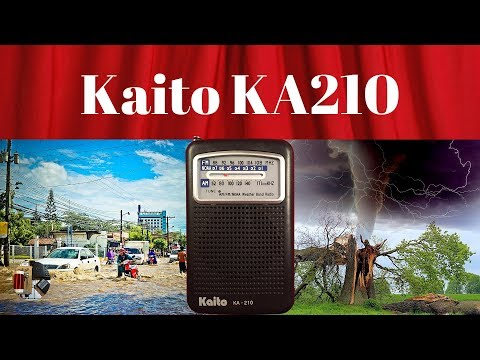Weather Watcher Kaito KA210 AM FM NOAA WB Radio Review