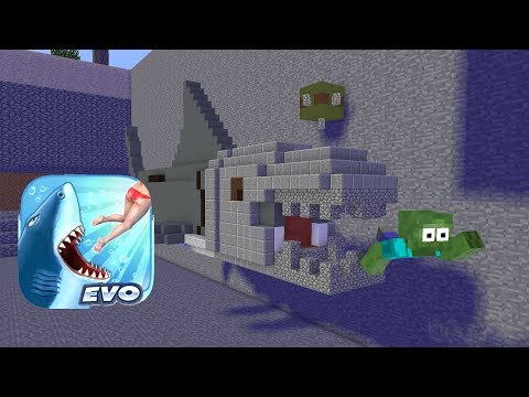 Monster School : Hungry Shark - Minecraft Animation